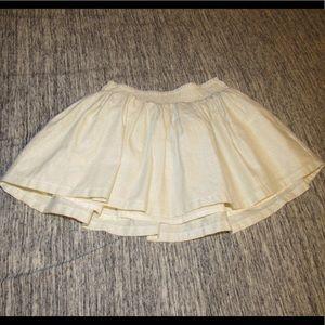Carter's off white glittery skirt, 3t